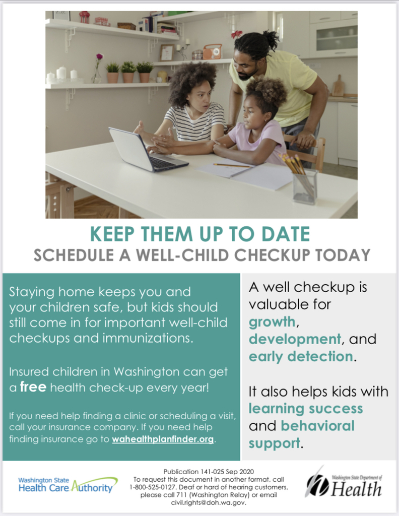 Well-Child Update Flyer